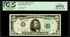 "$5 1969C Federal Reserve Note Dallas ""Error Ink Smear on Face"" PCGS Gem New 66PP"