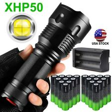 350000LM P50 Zoomable LED Flashlight 3Mode Light + Rechargeable Battery +Charger
