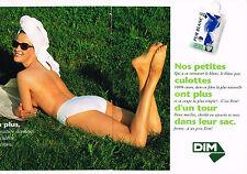 PUBLICITE ADVERTISING  1993   DIM  sous Vetements slip pur blanc ( 2 pages)