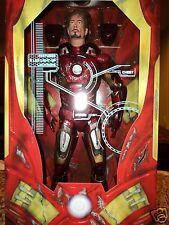 THE AVENGERS BATTLE DAMAGED IRON MAN 1/4 SCALE 18 INCH MOVIE ACTION FIGURE NECA