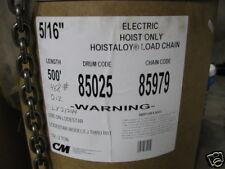"CM Star Grade Hoist Chain 85979 85949 Lodestar Valustar 5/16"" Load Chain"