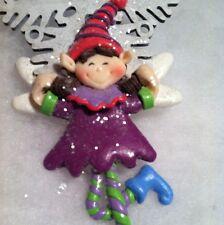 Sugarplum Pixie fairy /elf  snowflake christmas tree ornament