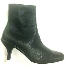 La Canadienne Waterproof Canada Faux Fur Lined Black Leather Ankle Boots Sz 7.5