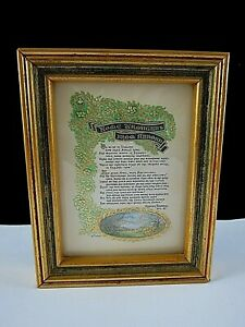Rare Henry Saxon Miniature Original Calligraphy & Water Colour Painting