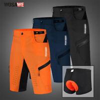 Pantaloncini da ciclismo MTB mountain bike Tasche con cerniera Pantaloni corti