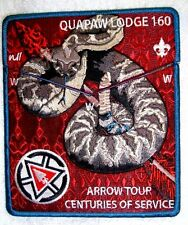 QUAPAW AREA LODGE 160 NOAC 2015 2-PATCH OA 100TH CENTENNIAL ARROW TOUR FEW MADE