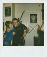 IRON MAIDEN FANS Vintage POLAROID Found Photo FREE SHIPPING Original COLOR  89 3