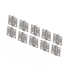 "Cheap Pro New 10pcs Cabinet Drawer Door Stainless Steel Butt Hinges 1.5"" Length"