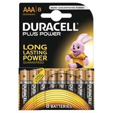 8 GENUINE ORIGINAL DURACELL AAA PLUS POWER BATTERY DURALOCK UP TO 50% MORE POWER