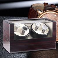 4+0 Watch Winder Box Orologio Automatico Scatola in legno EU Carica DHL Fast