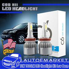 Pair H11 LED Headlight Low Beam Bulbs for Honda Accord 08-2017 Civic 2014-2017