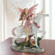 Mythical Pink white Fairy Unicorn Figurine Fantasy Statue New