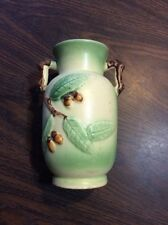 "vintage hand-painted 6"" vase from JAPAN - yellow & green with brown - MUST SEE!"