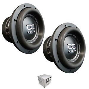 "Pair of DC Audio DC-M3 8"" 2400 Watt Dual 2 Ohm Voice Coil Subwoofer"