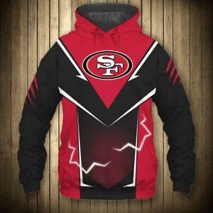 San Francisco 49ers Men's Hoodies Hooded Sweatshirts Pullover Jackets Fans Gift