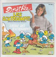 """LES SCHTROUMPFS 45 tours 7"""" SP DOROTHEE A L'ECOLE et TELEVISION - AB 810827-7"""