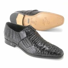 Lombardy Black Genuine Full Crocodile Men's Lace Up Shoes (9)