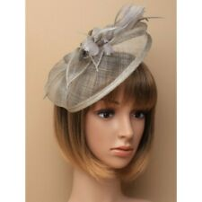 Grey Headband Aliceband Hat Fascinator Weddings Ladies Day Race Royal Ascot