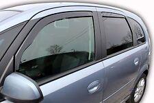 DOP25378 Vauxhall Meriva 2003-2010 wind deflectors 4pc set TINTED HEKO