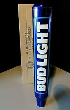 New In Box Tall Bud Light Iconic Metal Beer Bar Tap Handle lot for Kegerator