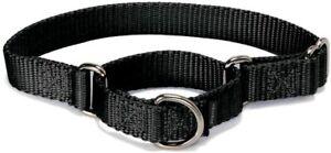 "Black Martingale Dog Collar - Petite5.5-8"" - Secure - 3/8"" Nylon - PetSafe - NWT"