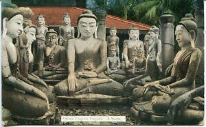 Burma Yangon - Shwedagon Pagoda  - A Scene old postcard