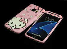for Samsung Galaxy S7 Pink Hello kitty Fullbody Front + back Case cover Defender