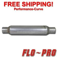 """Flo-Pro 8/"""" Baffle Style Diesel Muffler Center//Center 4/"""" In//4/"""" Out//29/"""" Long"""