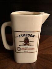 Vintage Jameson Irish Whiskey Pitcher Ceramic Diamond England (scotch, malt)