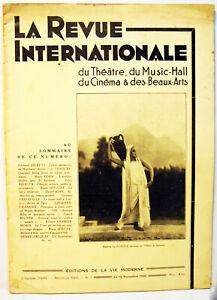 LA REVUE INTERNATIONALE -1930 -Nelle série N° 1- 32 pages
