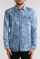 Camisa/Shirt – RUSTY - Talla/Size L - OIL SLICK LONG SLEEVE SHIRT - INDIGO