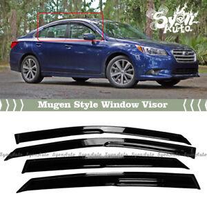 FITS 2015-2018 SUBARU LEGACY SEDAN JDM 3D MUGEN STYLE WINDOW VISOR RAIN GUARD
