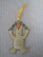 Swedish Metal Tin Easter Bunny Rabbit Hanging Decoration Ornament