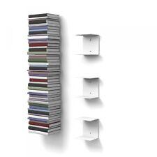 Unsichtbares Bücherregal mit 6 Böden in Farbe Weiß 30% Ermäßigung