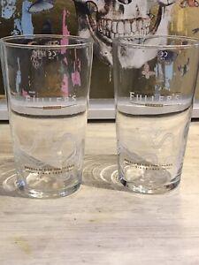 Fullers Pint Glasses X2