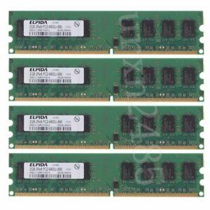 8GB kit 4x 2GB DDR2 800mhz PC2-6400U 240Pin DIMM intel Desktop Memory RAM Elpida