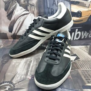 Adidas mens samba trainers size 12 black leather shoes eu 47 1/3 suede sneakers