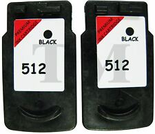 PG-512 Twin Pack Black Ink Cartridges fits Canon Pixma MP272 Printers