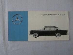 Vintage Mercedes Benz Sales Brochure Catalog 300SL 190SL 190 300 220 300 SL +