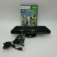 Xbox 360 Kinect Sensor Bar 1414 and Kinect Sports Season 2 Bundle Lot Microsoft