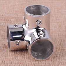 25mm Stainless Steel 90 Degree Boat Hand Marine Rail Fittings 3 Way Corner Elbow