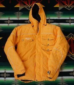 SMS Clothing Men's Down Snow LARGE  Orange style