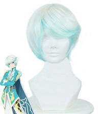 Tales of Zestiria The X Mikleo Cosplay Short White And Blue Ombre Hair Wig