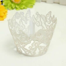 HK- 12 Butterfly Muffin Cup cake Wrapper Wrap Case Xmas Wedding Birthday Liner D