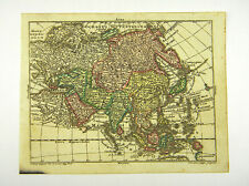 Asia ARABIA INDIA CHINA JAPAN altkol Copperplate Map Moores 1762 #d916s