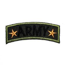 Mini US Army Military SF Rank Emblem Elbow T-Shirt Jacket Applique Iron on Patch