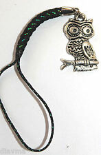 silver owl bird bag phone charm