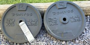 """20KG X2 Weider Cast Iron Weights 40KG Gym 1"""" Dumbbell Barbell Fitness"""