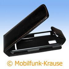 Flip Case étui pochette pour téléphone portable sac Housse pour Nokia 5630 xpressmusic (Noir)