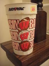 Vintage Plastic Wisconsin Badgers Souvenir Drinking Cup -Cool! Big 10